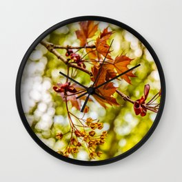 Maple blooms Wall Clock