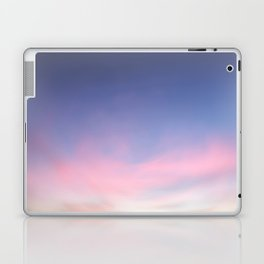 Blue evening sky with pink clouds. Photography Laptop & iPad Skin