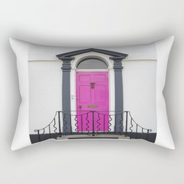 in through the pink door… a splash of colour for the front entrance door Rectangular Pillow
