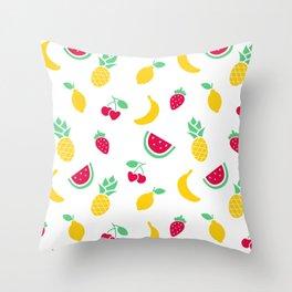 Fruit Salad Pattern Throw Pillow