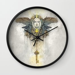 Alis grave nil - Nothing is heavy to those who have wings Wall Clock