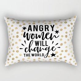 Angry Women Will Change The World Rectangular Pillow