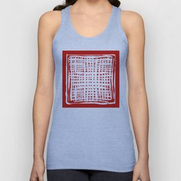 screen, white on red Unisex Tank Top