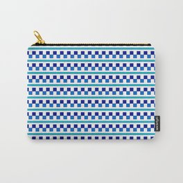 Blue geometric Pattern Carry-All Pouch
