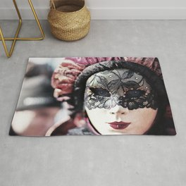 Italy Venice Mask 4 woman Rug