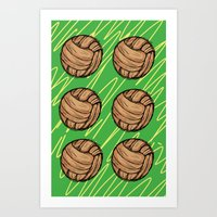 football Art Prints featuring Football by h.oax