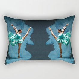 -O1- Blue Ballet Dancer Deep Feelings. Rectangular Pillow