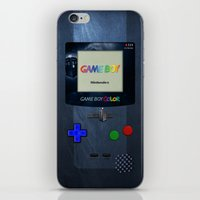 gameboy iPhone & iPod Skins featuring GAMEBOY by MiliarderBrown