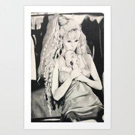 Claudia schiffer Art Print