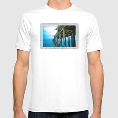 Capitola Pier Mens Fitted Tee White MEDIUM