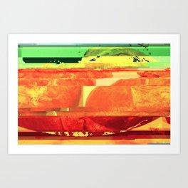 Liver Glitch Art Print