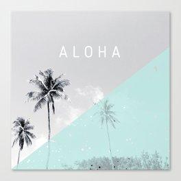 Island vibes retro - Aloha Canvas Print