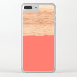 Sorbet - Coral Clear iPhone Case