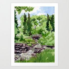 Little Confederation Park Bridge Art Print