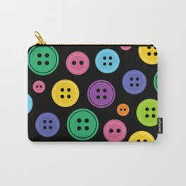 Colorful Rainbow Buttons Carry-All Pouch