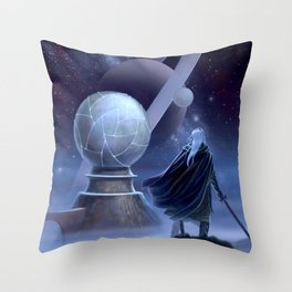 The Temple at the End of Time Throw Pillow