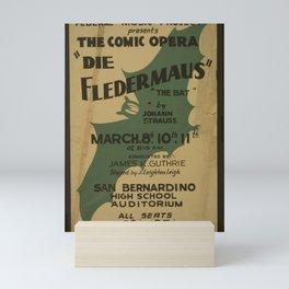 Vintage American Theater Poster - Die Fledermaus at San Bernardino High School (1940) Mini Art Print