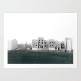 Flood Resilient High Street - 2212 Art Print