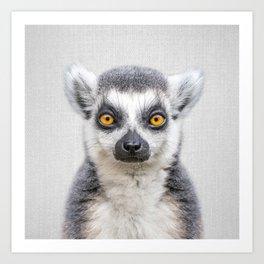Lemur 2 - Colorful Art Print