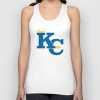 kansas city Tank Tops featuring Kansas City Sports Blue by Haley Jo Phoenix