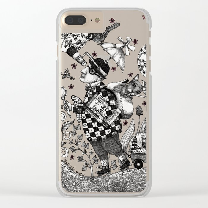 Mr. Hat goes to the Park Clear iPhone Case