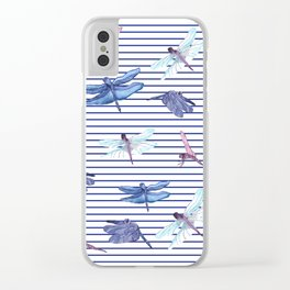 Dragonfly stripes Clear iPhone Case