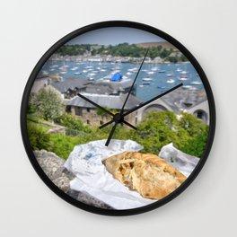 Falmouth Pasty Wall Clock