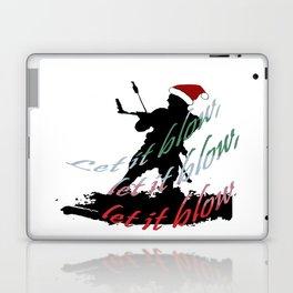 Let It Blow Christmas Holiday Kiteboarding Sport Laptop & iPad Skin