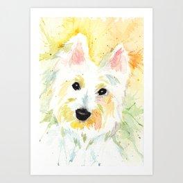 White Terrier Art Print