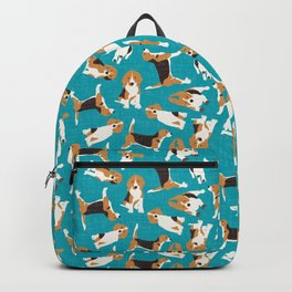 beagle scatter blue Backpack