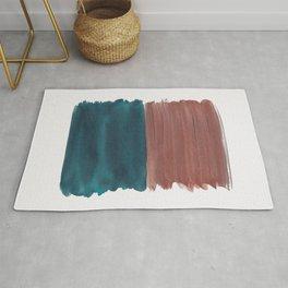Copper Teal Abstract Minimalism #1 #minimal #ink #decor #art #society6 Rug