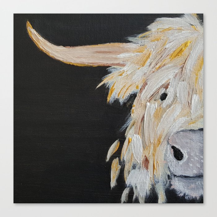 Oro, the Highland Cow Canvas Print