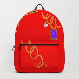Necklace, bling, gems Backpack