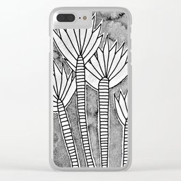 Pointy plants Clear iPhone Case