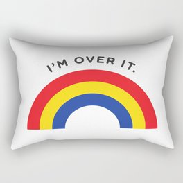 I'm Over It - Rainbow Rectangular Pillow
