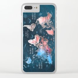 world map 45 Clear iPhone Case