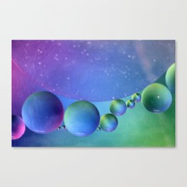 Water and Oil Abstract Canvas Print
