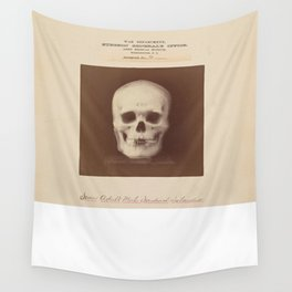 The Vintage War Surgeon Skull - Army Museum Wall Tapestry