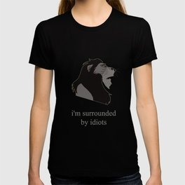 scar surrounded by idiots T-shirt