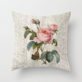 Roses Nostalgie Throw Pillow