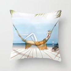 Chill, Relax, it's Summertime!! Throw Pillow