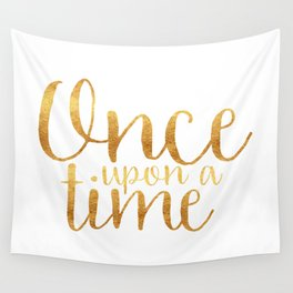 Once Upon a Time - Gold Wall Tapestry