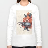 hercules Long Sleeve T-shirts featuring Hercules Beetle by Angela Rizza