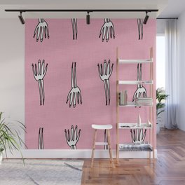 Skeletal Hand Pink #Halloween Wall Mural