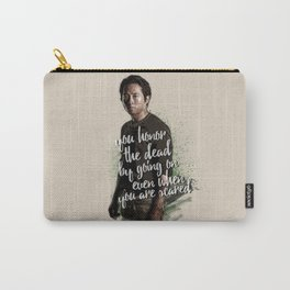 You honor the dead by going on... - Glenn Rhee Carry-All Pouch