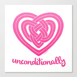 UNCONDITIONALLY in pink Canvas Print