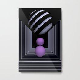 3D-geometry -16- Metal Print