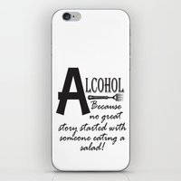 alcohol iPhone & iPod Skins featuring ALCOHOL...because by Andrea Jean Clausen - andreajeanco