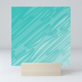 Bahama Blue Line Art, Variable Opacity Color Study – 5  Mini Art Print
