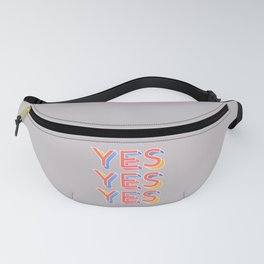 YES - typography Fanny Pack